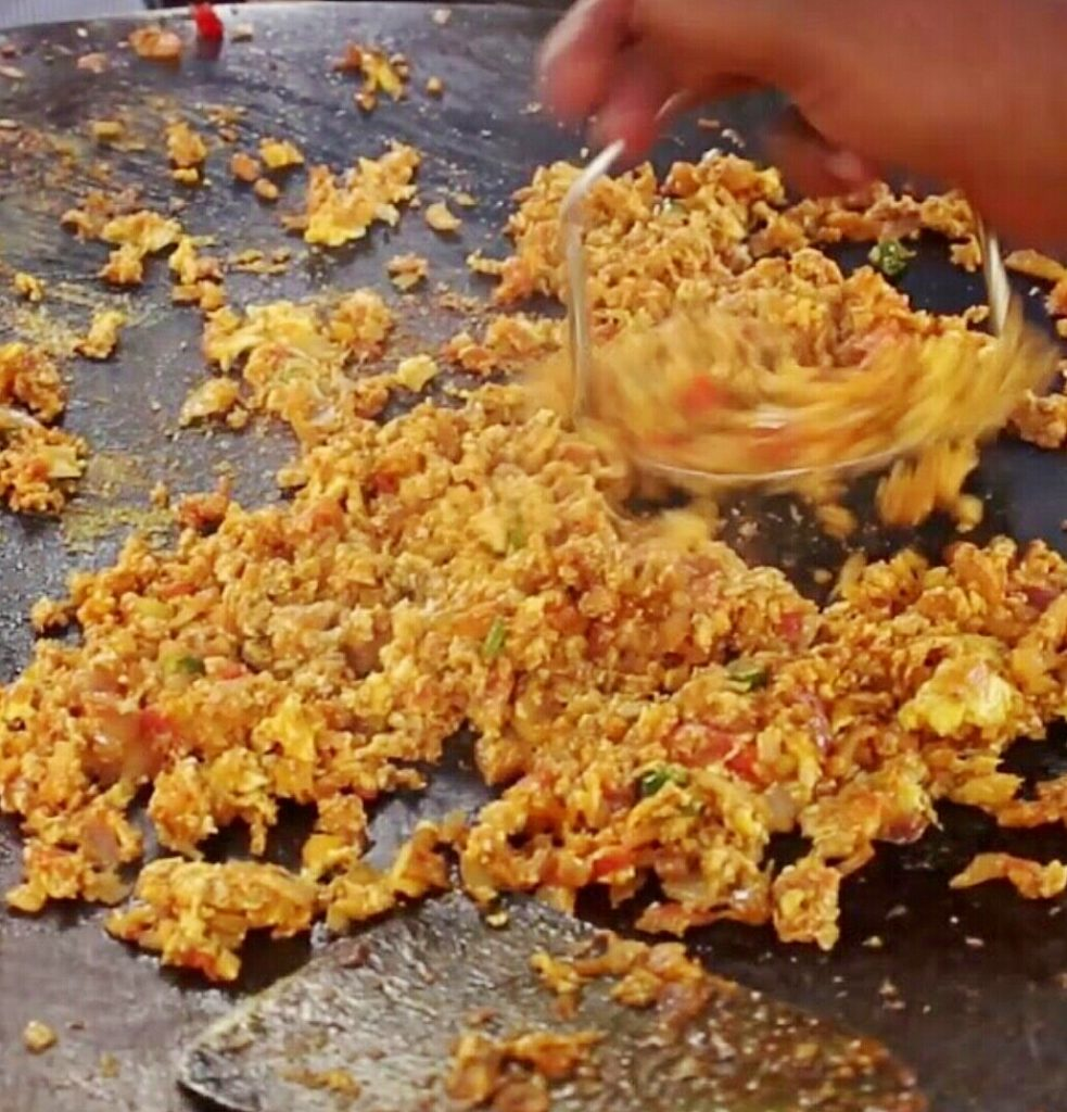 Egg Bhurji On Tawa